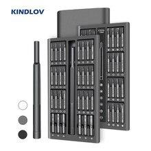 Kindlov chave de fenda conjunto 63 em 1 chave de fenda magnética conjunto bit precisão phillips torx hex bits de chave de fenda reparação ferramentas do telefone pc