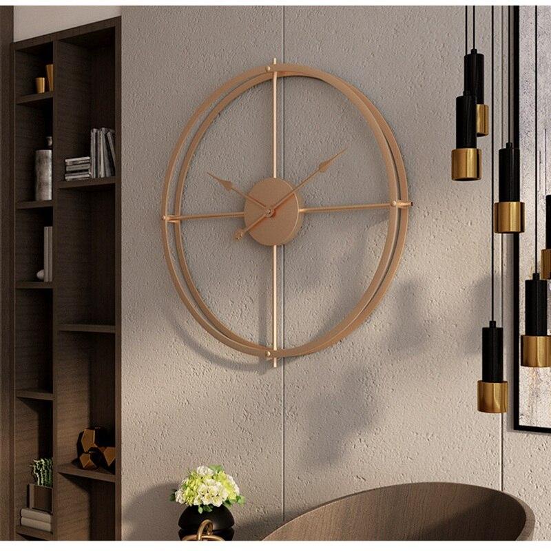 2019 bref 3d Style européen silencieux montre horloge murale Design moderne pour maison bureau décoratif suspendus horloges mur décor à la maison - 2