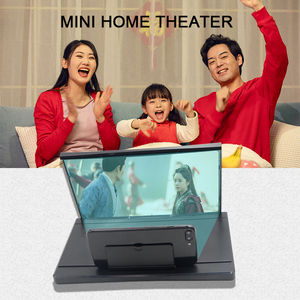 Image 4 - 12インチhdビデオ映画アンプ3D携帯電話画面拡大鏡プロジェクター折りたたみデスクホルダーiphone xiaomiすべてスマートフォン