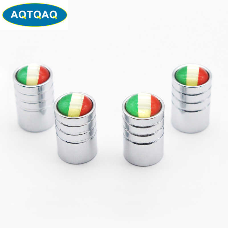 4pcs/lot Italy Flag Car Bike Moto Tires Wheel Valve Caps Tyre Rim Covers Car Styling Stem Cover Accessories Decoration