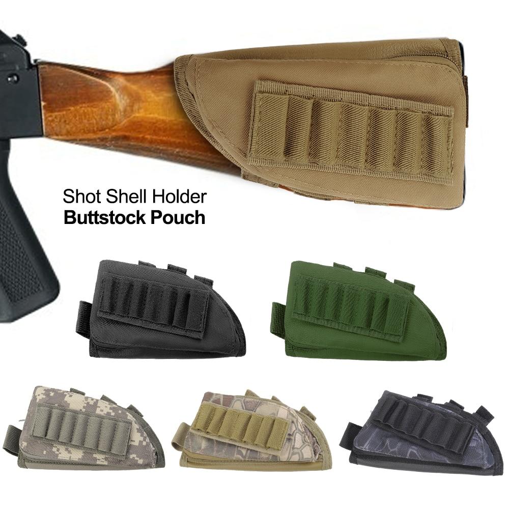 Tactical Stealth 5 Round Shotgun Ammo Buttstock Carrier Holder for 12 20 Gauge
