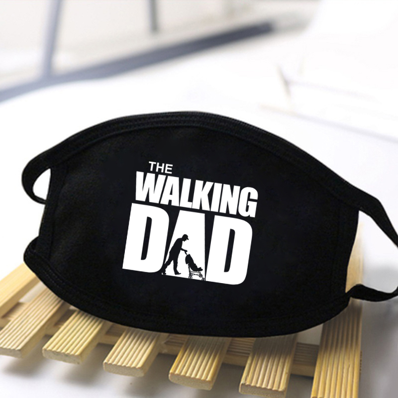Unisex The Walking Dad Letter Fashion Printing Masks 2020 Mens Breathable Skin-friendly Funny Mask Protective Women Masks Male