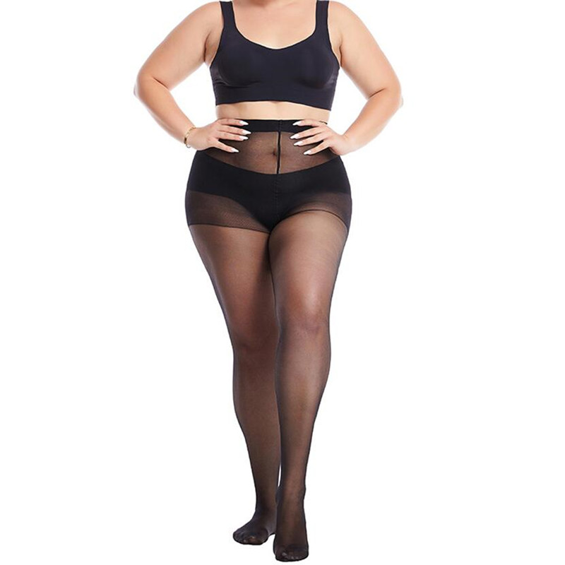 40 D Plus Size Women Sexy Pantyhose Elasticity Spandex Resistant Women's Stockings Collant Femme Black Tights Sexy Control Pants