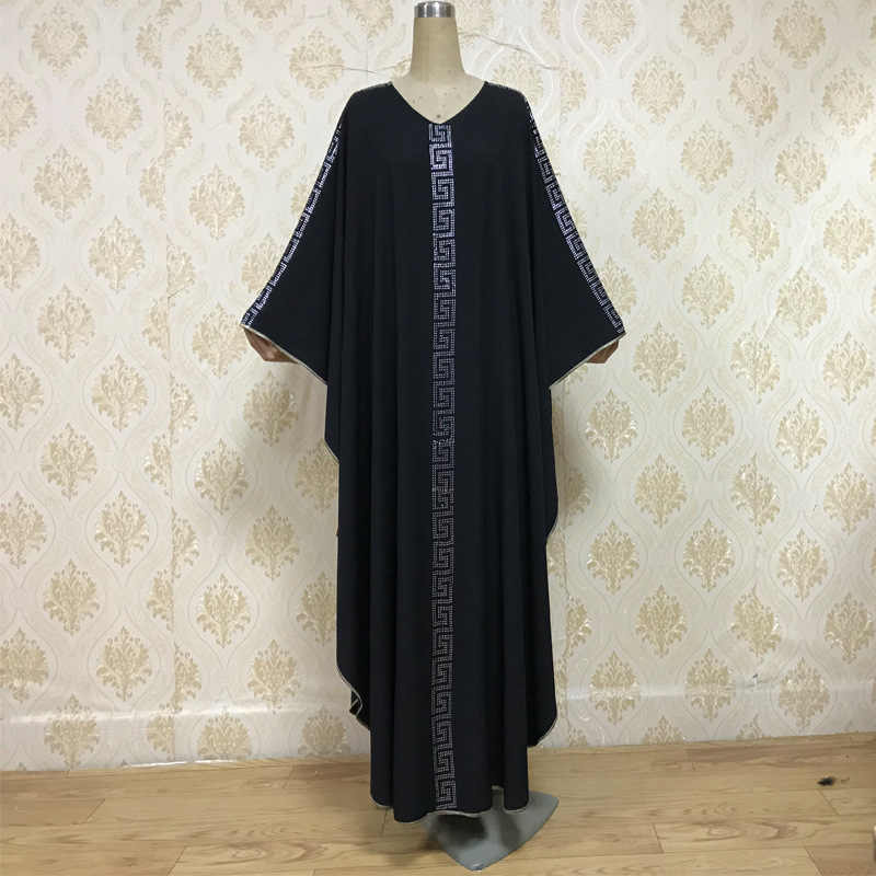 Eidムスリムアバヤドレスモロッコカフタンラマダンイスラム服の女性ドバイラインストーン祈り衣服カフタンロングローブアラブ