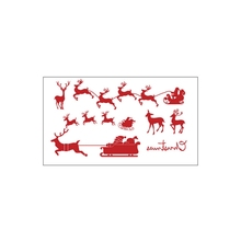 hilittlekids Christmas Temporary Tattoos For Kids Fun Santa Claus Stickers Waterproof Tattoo Stickers For Party Favor
