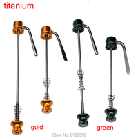 Newest ultralig titanium alloy Mountain bike quick release Road bicycle quick release skewers QR MTB Bike parts 50g Free ship