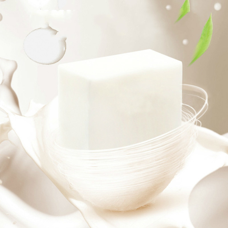 Anti-Acne Oil Control Whitening Moisturizing Brighten Skin Wash Face Body Cleaning Soap New 100g Silk Protein Essence Soap TSLM1