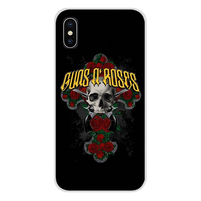 Guns N Roses Drawing Painting For Xiaomi Redmi 4A S2 Note 3 3S 4 4X 5 Plus 6 7 6A Pro Pocophone F1 Transparent Soft Cases Covers