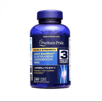 Hot sale Double Glucosamine chondroitin msm Joint Soother 240 Caplets Support Health protein slice Comfort Promotes sports - discount item  25% OFF Makeup