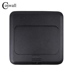 Image 4 - Coswall オールアルミ黒パネルスローポップソケット 16A ロシアスペイン Eu の標準電源コンセントと USB 充電ポート 5V 1A