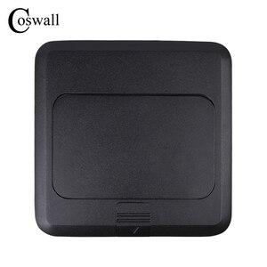 Image 4 - Coswall w całości z aluminium czarny Panel powolne Pop Up gniazdo podłogowe 16A rosja hiszpania Standard ue listwa sieciowa z portu USB do ładowania 5V 1A