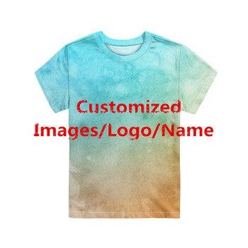 Camisetas con el nombre de la imagen personalizada de HYCOOL, camisetas para niños y niñas, camisetas divertidas con diseño de impresión 3D, ropa informal para niños pequeños