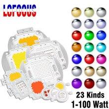 Высокая Мощность светодиодный чип 1 Вт, 3 Вт, 5 Вт, 10 Вт, 20 Вт, 30 Вт, 50 Вт, 100W SMD COB светильник шарик теплый холодный белый красного, зеленого и сине...