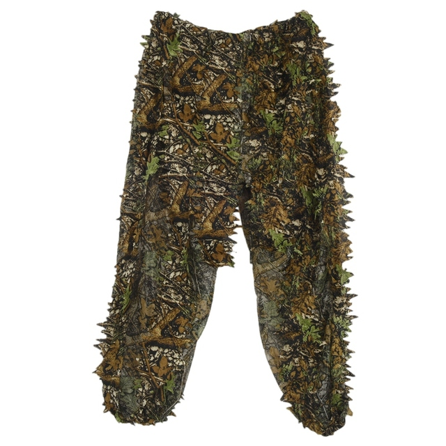 3D Leaf Adults Ghillie Suit Woodland Camo/Camouflage Hunting Deer Stalking in 5