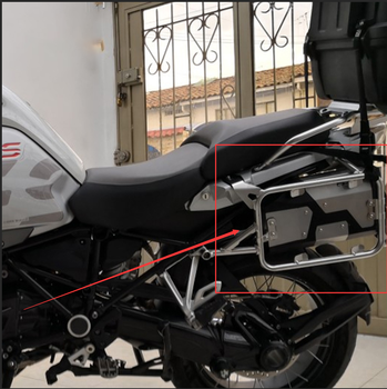 For BMW R1200GS F750GS F850GS R1250GS Motorcycle decorative aluminum tool box suitable side support Toolbox Alloy ABS Tool Box