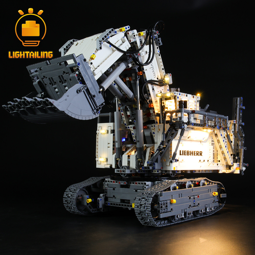 LIGHTAILING Building-Blocks Excavator Toy Technic Liebherr 42100 9800 for Only title=