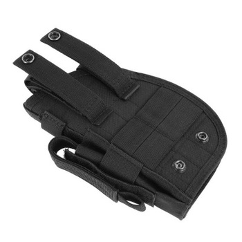 Tactical 600D Molle Gun Holster Military Rifle Bag for Right Hand Adjustable Handgun Holder with Mag Pouch Hunting Accessories 4