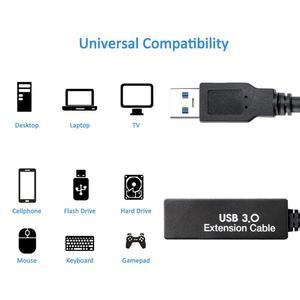 Image 4 - 2in1 Total 8M/26Ft Type A à C USB câble dextension de casque de données Stable ligne pour Oculus Quest Link vapeur VR lunettes accessoires