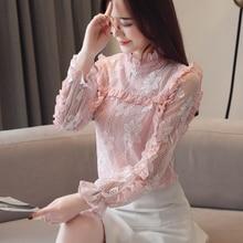 Fashion Korean Women Blouses Shirts Elegant Chiffon Blouse Blusas Mujer De Moda 2019 Womens Tops and