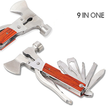 цена на 9 IN 1 Multi Tools Outdoor multi-function axe portable camping tent hammer Multifunctional Tool