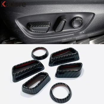 For Toyota RAV4 RAV 4 2019 2020 Camry 2018 2019 2020 Carbon Fiber Car Seat Adjustment Button Switch Trim Interior Accessories image