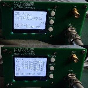 Image 3 - משלוח חינם FA 2 1Hz 12.4GHz תדר דלפק ערכת תדר מטר סטטיסטי פונקצית 11 ביטים/sec + כוח מתאם