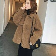 Женская обувь из овечьей шерсти жакет; короткая куртка мода модный пиджак