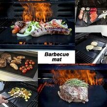 Lots 5 pcs BBQ Grill Mat Non-Stick Bake Grilling Mats Barbecue Pad Teflon Fiber