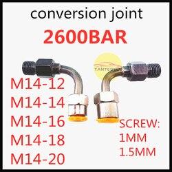 2600bar test common rail złącze do konwersji rury stołowej  wspólny wtryskiwacz szynowy pompa łączy złącze z rurką common rail