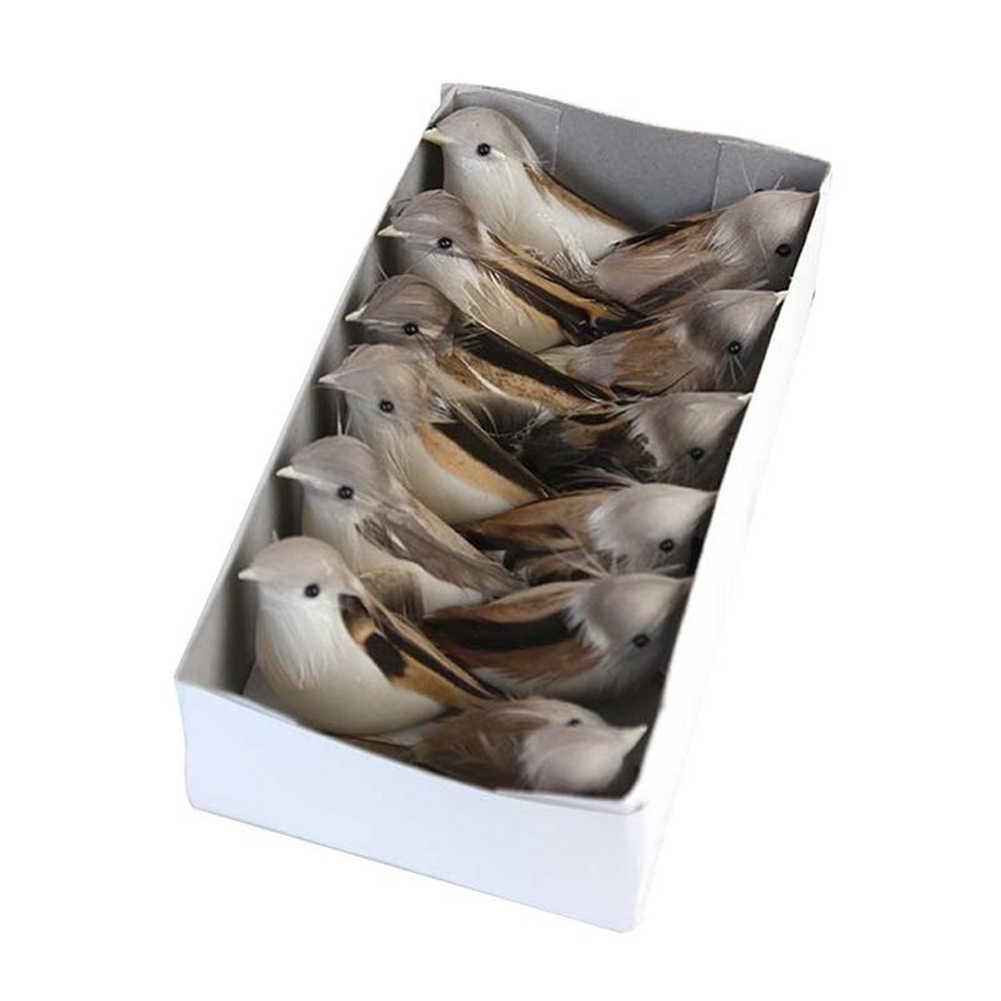 12 шт. милый перо моделирование садовая модель DIY ремесло украшение искусственная птица фотография Реквизит пейзаж домашняя пена длинный хвост