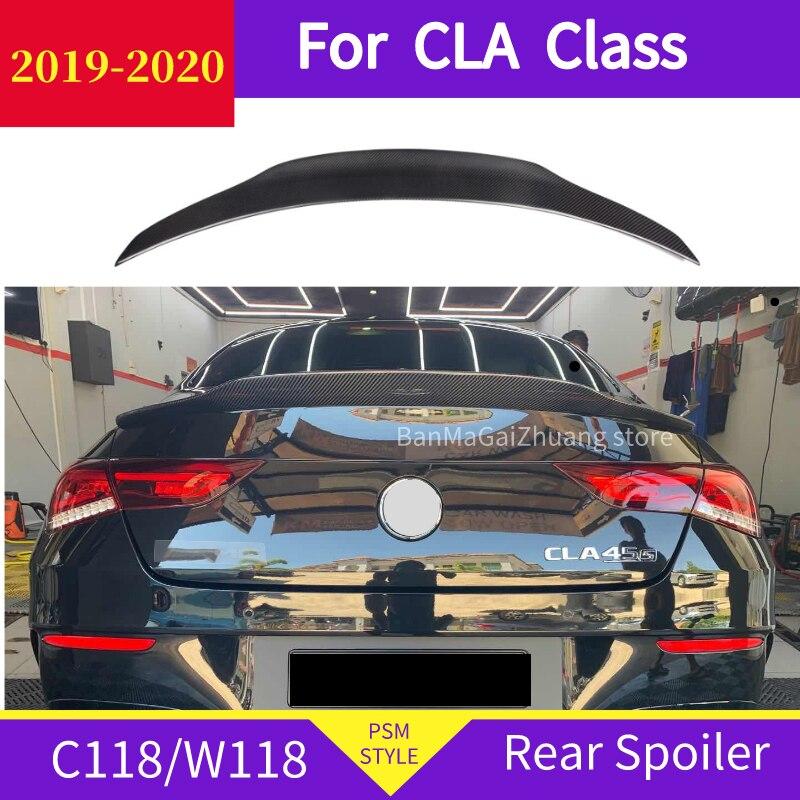 Color : Unpainted Mlzaq Spoiler Posteriore for Mercedes-Benz Classe CLA W118 2019-2020 CLA250 CLA200 CLA220 ABS Spoiler Posteriore dellautomobile di Ala Lip diruttore del Tronco