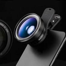 Universal 3 em 1 kit de lente da câmera do telefone olho peixe lente grande angular macro fisheye lente zoom para iphone xiaomi huawei smartphones