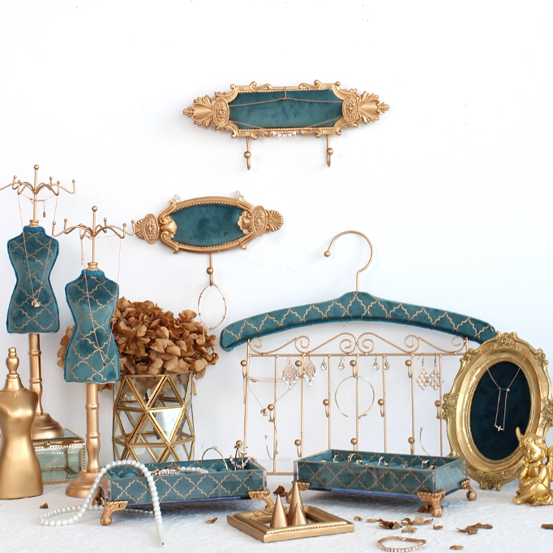 New Jewelry Frame Set Jewelry Rack Velvet Display Stand Jewelry Case Pendant Jewelry Display Holder Stand For Home Bedroom