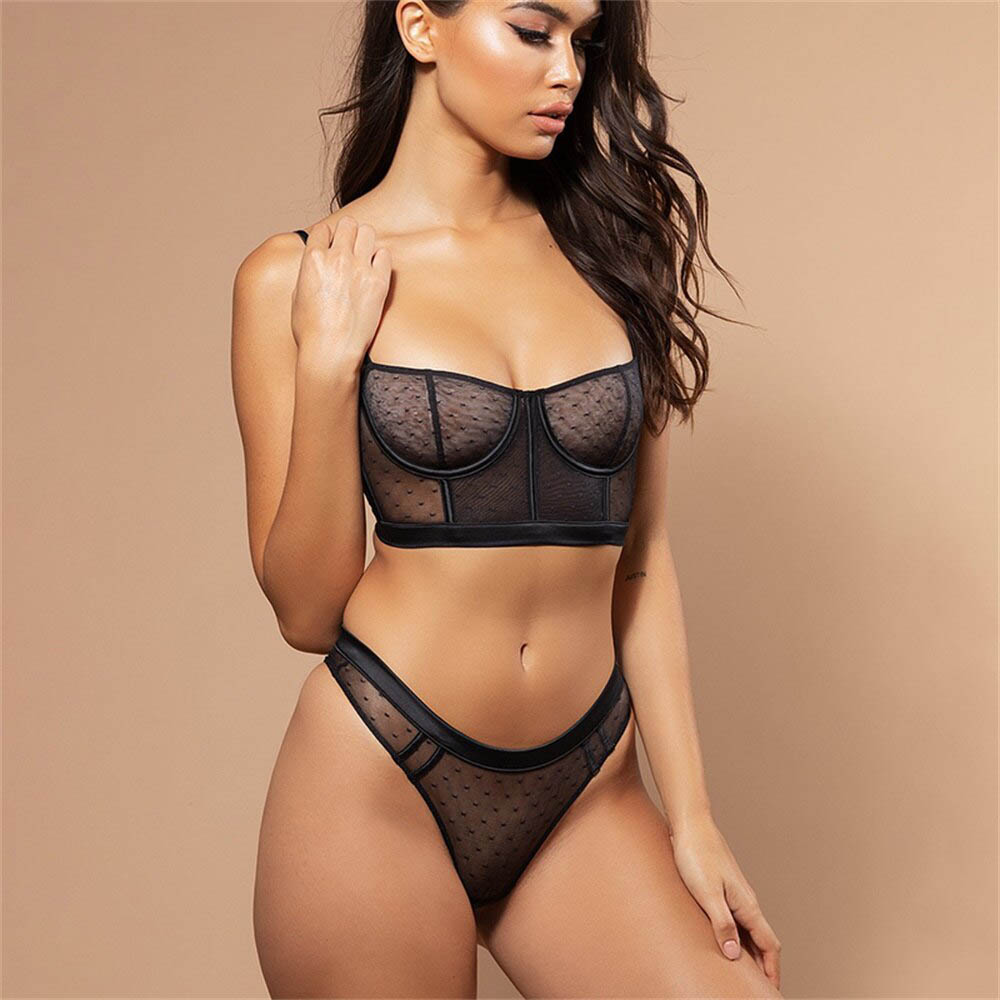 Women Lace Bra Sets Seamless Underwear Backless Vest Sexy Padded Bralette Lingerie Ultrathin Bra & Brief Sets Female Intimates
