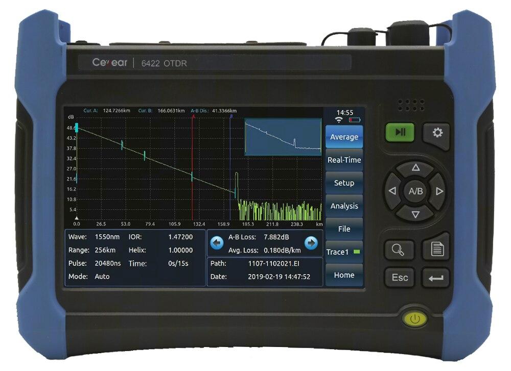 Factory Price OTDR Single Mode SM 1310/1550/1625nm (built-in Filter), Dynamic Range 37/35/35), English And Spanish