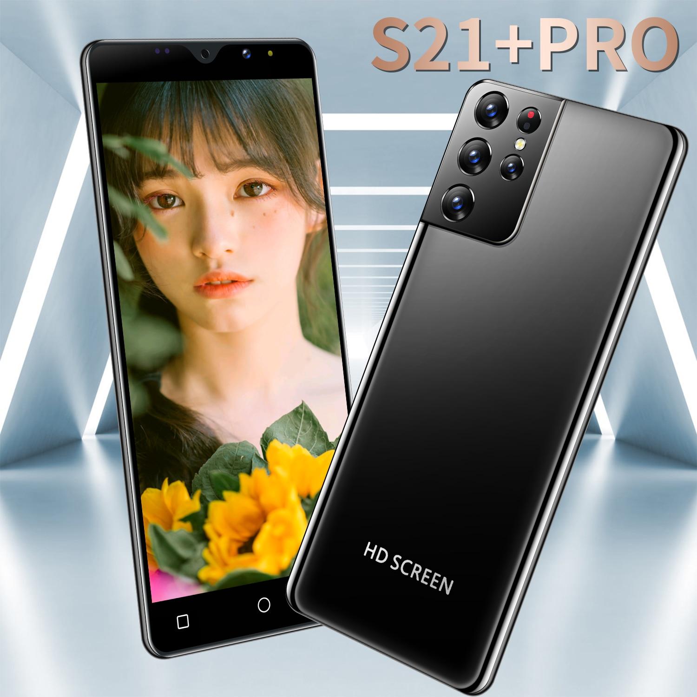 Смартфон глобальная версия S21 + Pro Deca Core, размер экрана Android10 Поддержка емкостный сенсорный экран 6,3 дюймов 16G 512G 6800 мА/ч, 5G мобильный телефон