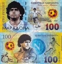 Original Maradona 100 rublo ruso billetes de plástico nota rublo Rusia fútbol no-moneda dinero coleccionables
