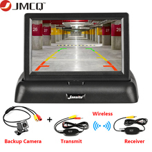 Parking-System Monitor-Display Reverse-Camera Car-Rearview-Monitors Foldable JMCQ TFT