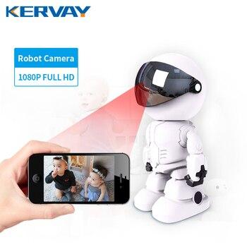 1080P Robot kamera IP kamera ochrony WiFi bezprzewodowy 2MP kamera telewizji przemysłowej nadzoru IR Night Vision P2P niania elektroniczna Baby Monitor ukryte monitor