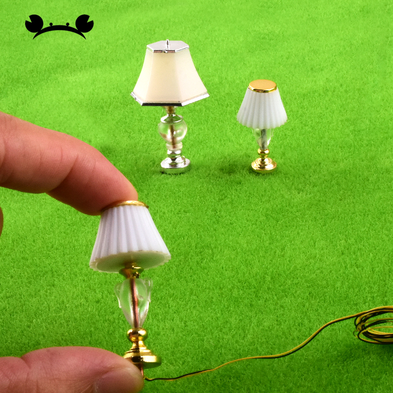5pcs 1/20 1/25 Scale Model Railway LED Table Light Lamppost Metal Desk Lamps Building Model MaterialsLights