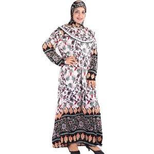 Image 4 - (לבחור צבע & פרח דפוס) מוסלמי נשים של תפילת גלימה מזרח התיכון העבאיה