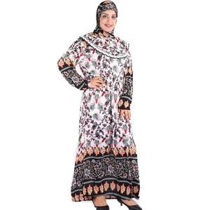 Image 4 - (choose color&flower pattern) Muslim womens Prayer robe  Middle East ABAYA