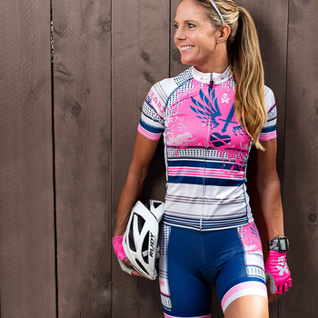 Bettydesigns-traje de ciclismo para Mujer conjunto de manga corta, Maillot, pantalones cortos,...