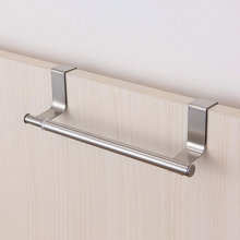 Over Door Towel Rack Bar Hanging Holder Bathroom Kitchen Cabinet Shelf Rack Stainless Steel Towel Rack Household Hanging(China)
