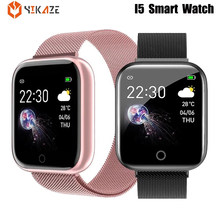 I5 водонепроницаемый смарт-часы для мужчин сердечного ритма прибор для измерения артериального давления женские умные часы для Apple IPhone смар...