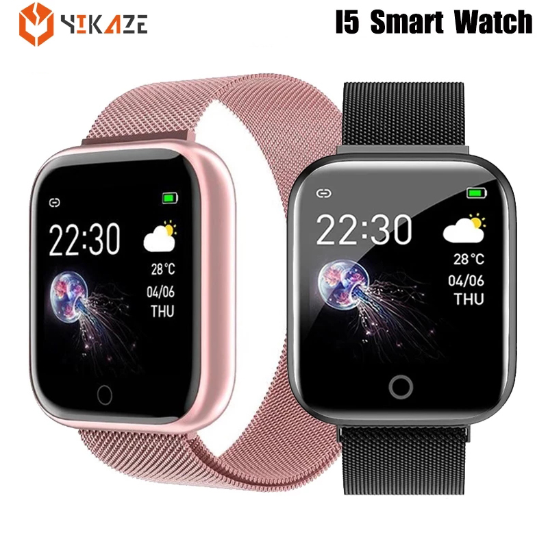 I5 Waterproof SmartWatch Men Heart Rate Blood Pressure Monitor Women Smart watch for Apple IPhone Smart Clock for Android IOS