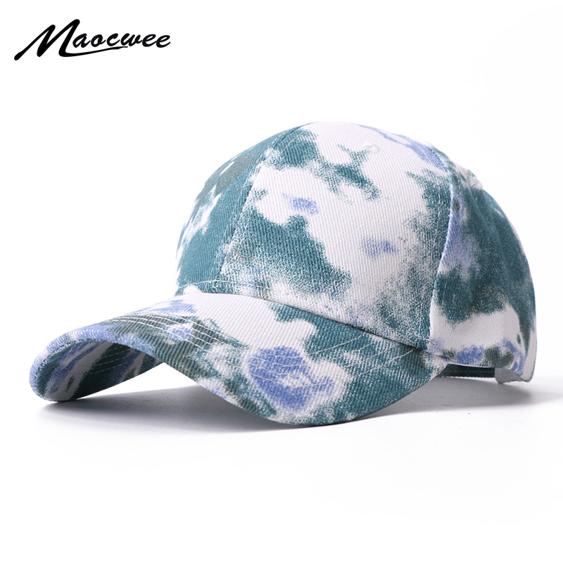 New Tie-dyed Baseball Cap For Women Men Snapback Hip Hop Hats Summer Sun Cap Gorras High Quality Colorful Fashion Baseball Caps