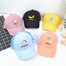 Doitbest mesh Child Baseball Cap cute Embroidery fruit pench