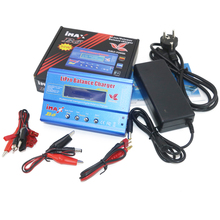 Imax B6 80 ワット 6A バッテリー充電器リポ nimh リチウムイオン ni cd デジタル rc バランス充電器放電器 + 15v 6A 電源アダプタ + 充電ケーブル