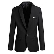 LOOZYKIT Men Slim Fit Social Blazer Spring Autumn Fashion Solid Mens Wedding Dre